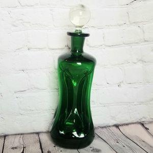 Holmgaard Kluk Kluk Decanter Green Glass VTG